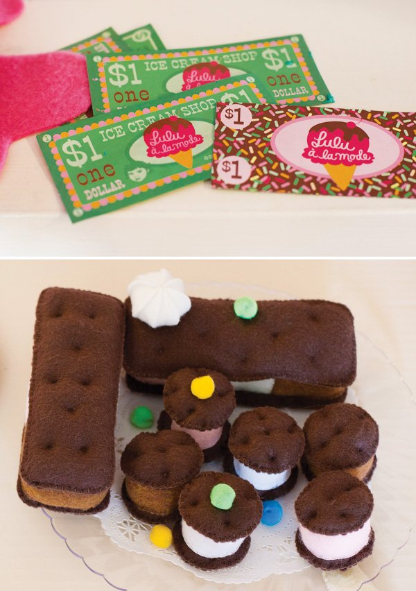 felt ice cream sandwiches
