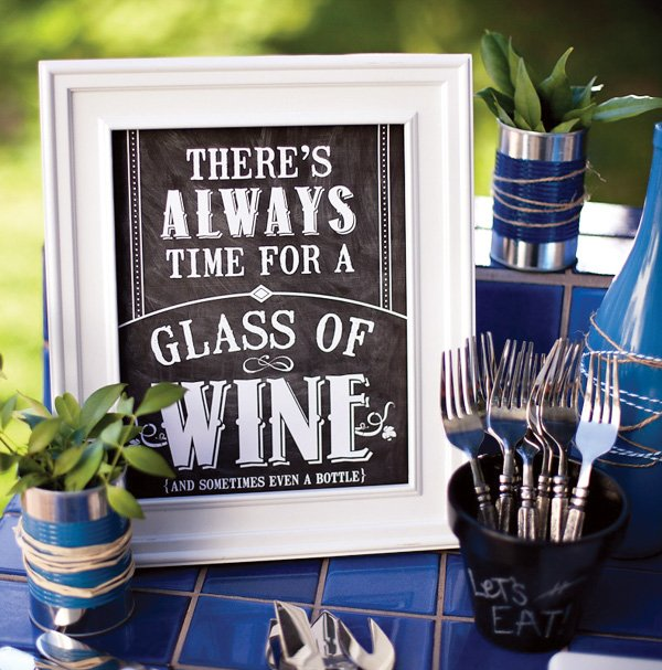 free printable wine quote