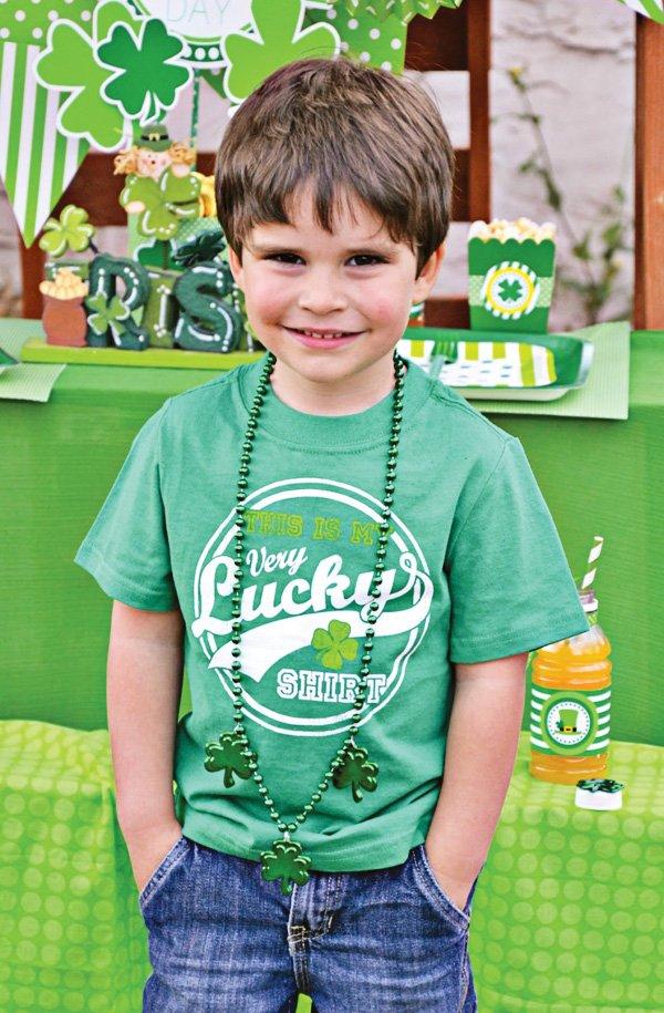 lucky green shirt