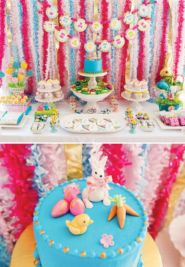 happy easter dessert table