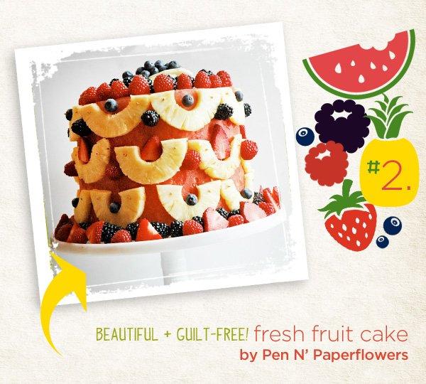 fresh fruit cake recipe from Pen 'N Paperflowers