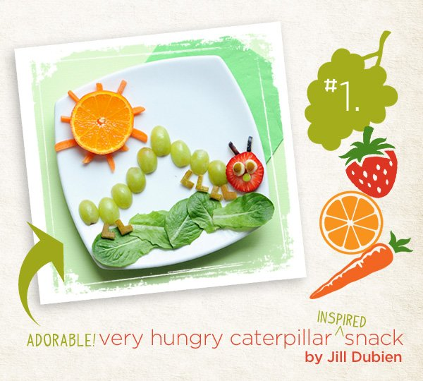 hungry caterpillar fruit snack idea for kids