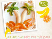 palm tree fruit snack idea for kids