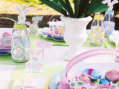 kids easter tablescape