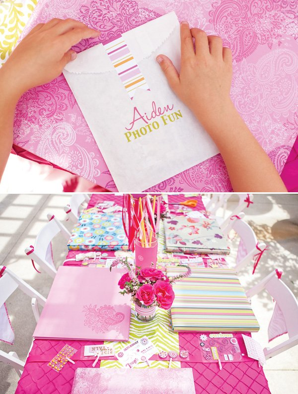kids scrapbooking party