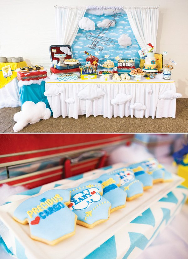 operation shower transportation theme dessert table
