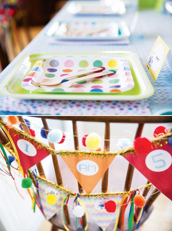 rainbow robot party