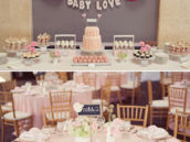 pink birdcage baby shower