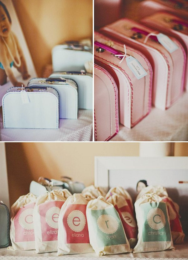 pink and blue suitcases