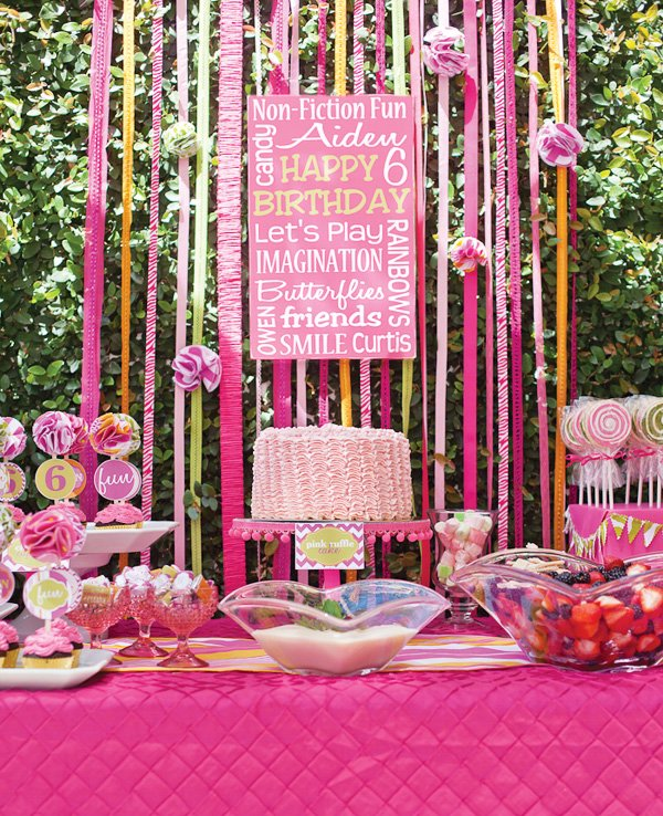 Darling Non Fiction Fun Pink Birthday Party Hostess with the