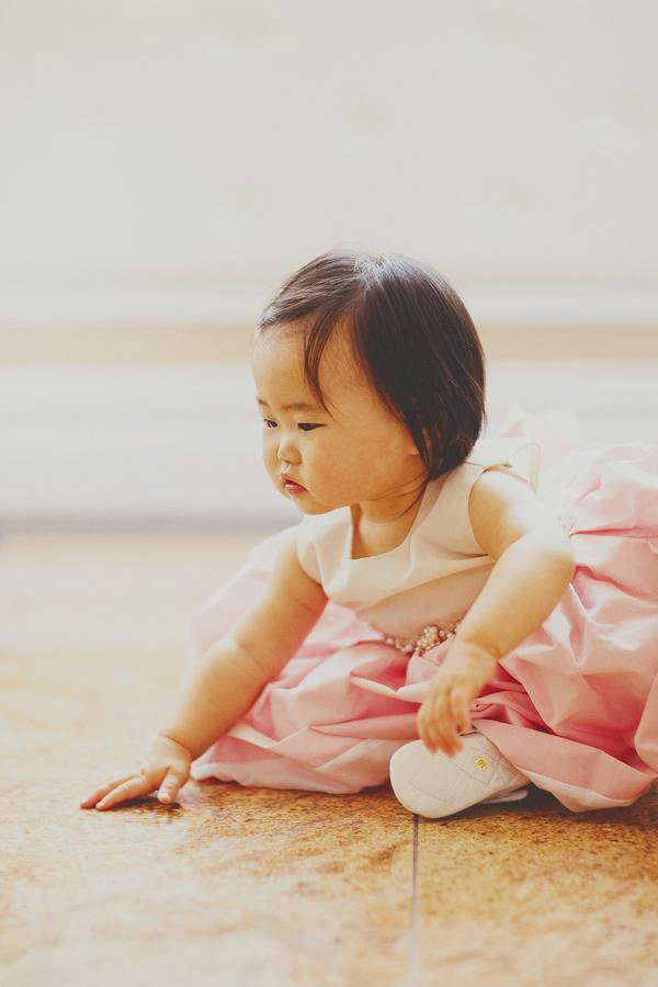 pink first birthday dress