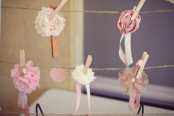 pink flower headbands