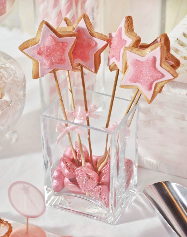 pink magic wand cookies