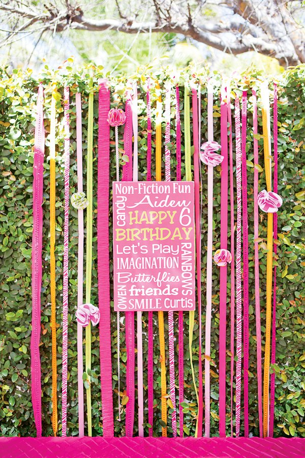pink ribbon backdrop