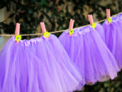 purple tutus for a fairy makeover party