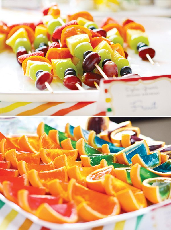 rainbow fruit skewers