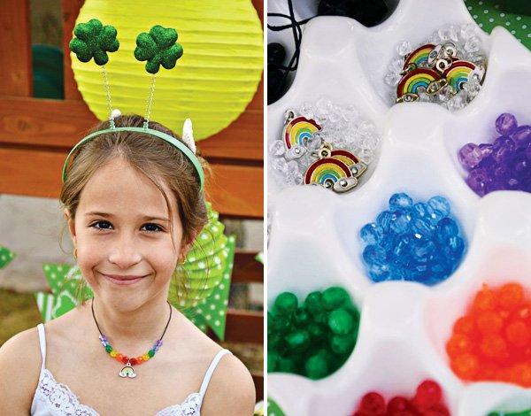 rainbow necklace activity