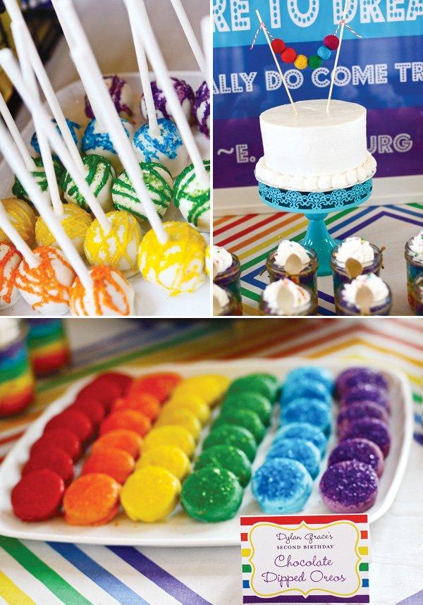 rainbow party treats
