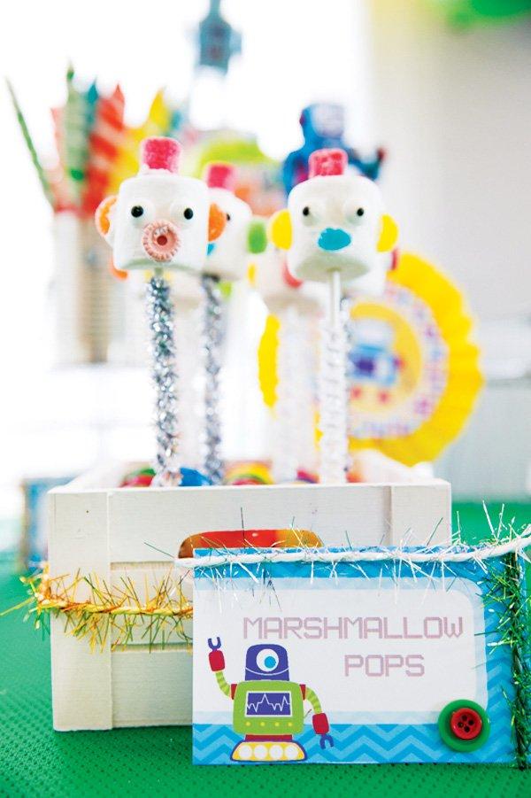 robot marshmallow pops