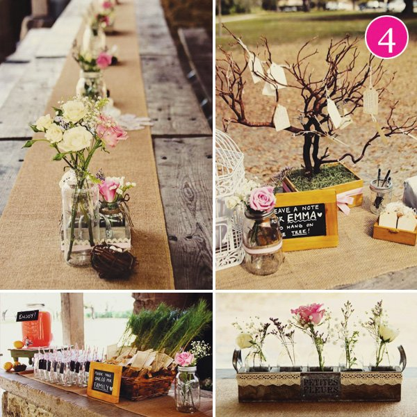 rustic chic baby shower