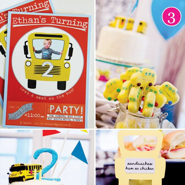 school bus birthday party