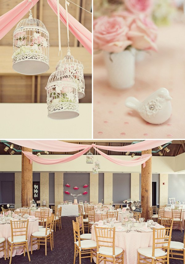 shabby chic birdcage baby shower