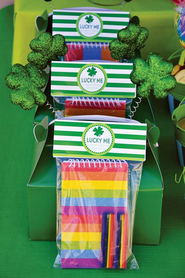 rainbow st. patrick's day party favors