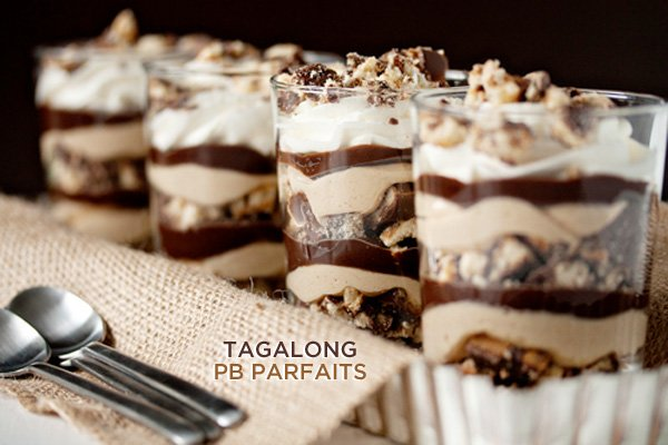Tagalong Peanut Butter Parfaits Recipe by My Baking Addiction