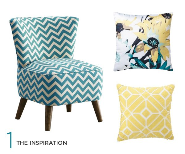 teal-chevron-chair