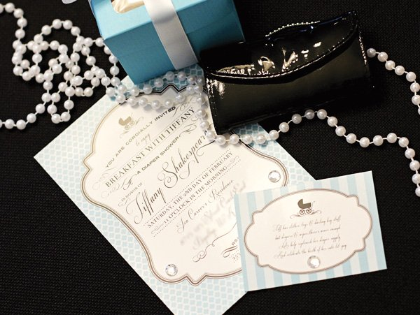 Breakfast at Tiffany's baby shower invitation