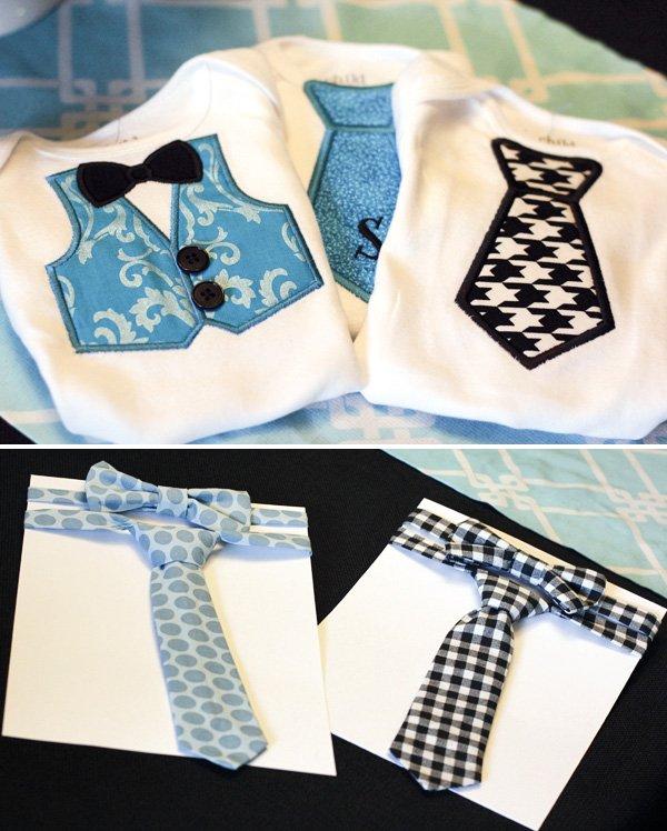 vest and tie baby onesies