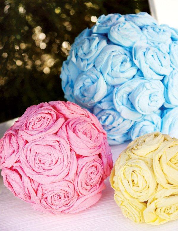 tissue pom flower balls