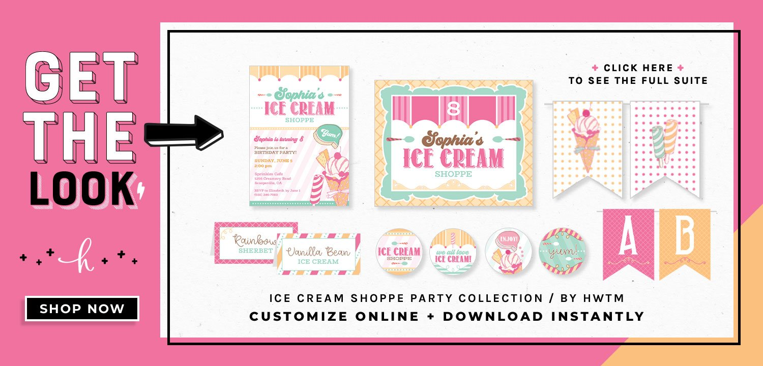 Ice Cream Shoppe Printables