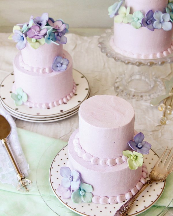 lavender honey mini cakes