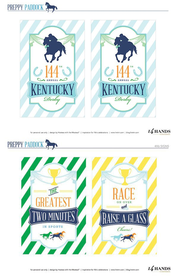 This is a picture of Clever Kentucky Derby Printables
