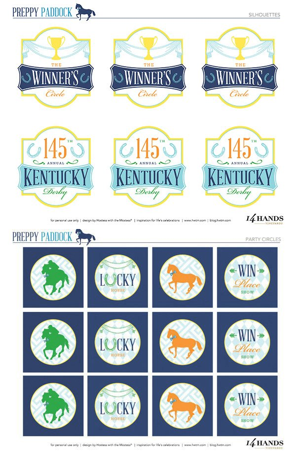 picture about Printable Kentucky Derby Field named Absolutely free 2019 Kentucky Derby Bash Printables \