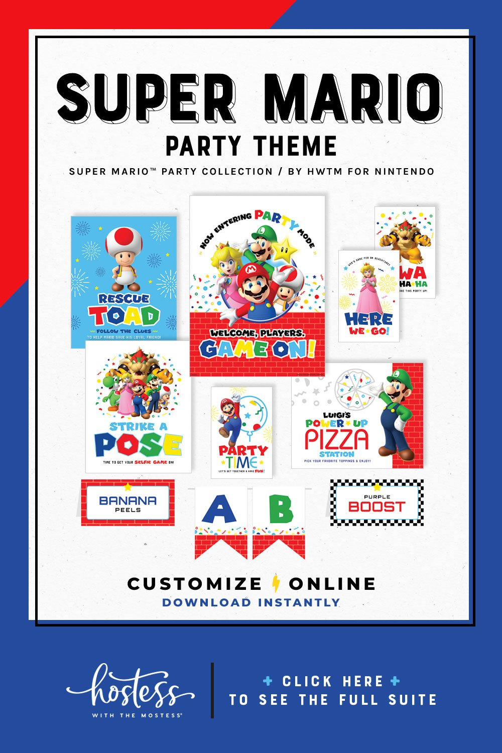 Super Mario Party Printables