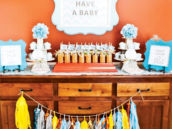 baby shower drink table