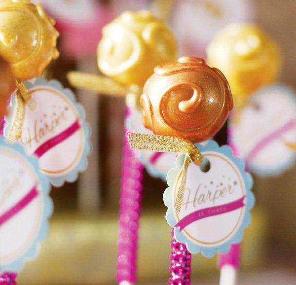 bling swirl cake pops