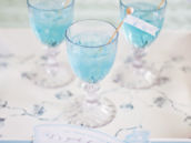 blue party drinks with free party printables