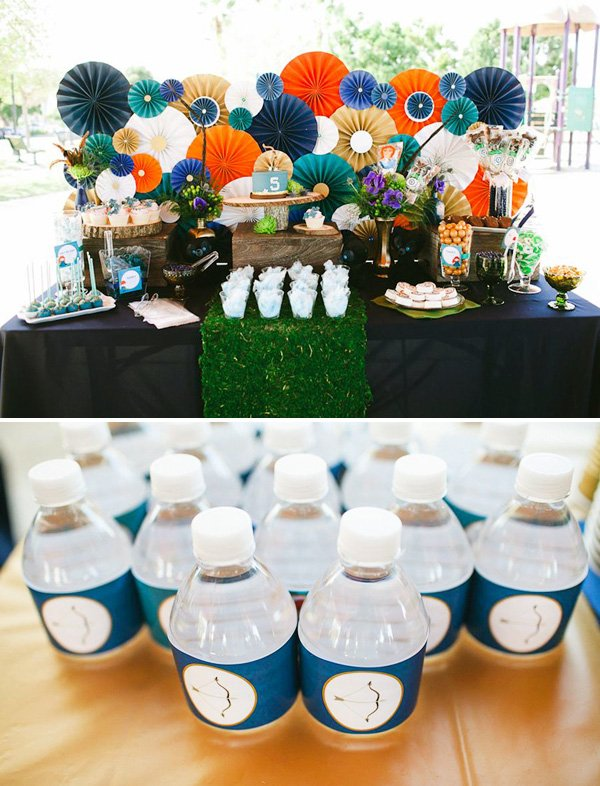 brave party dessert table