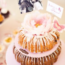 bundt cake with flower cake topper