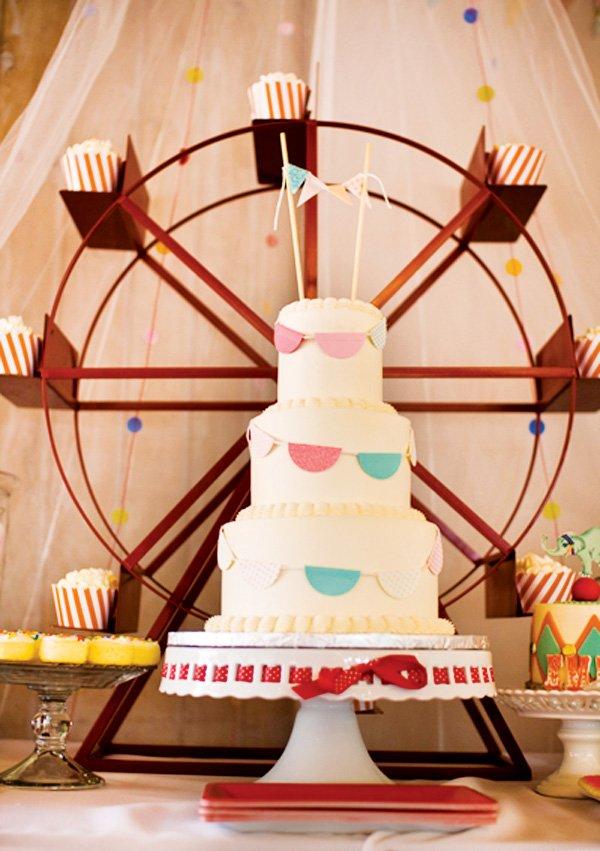 bunting banner cake