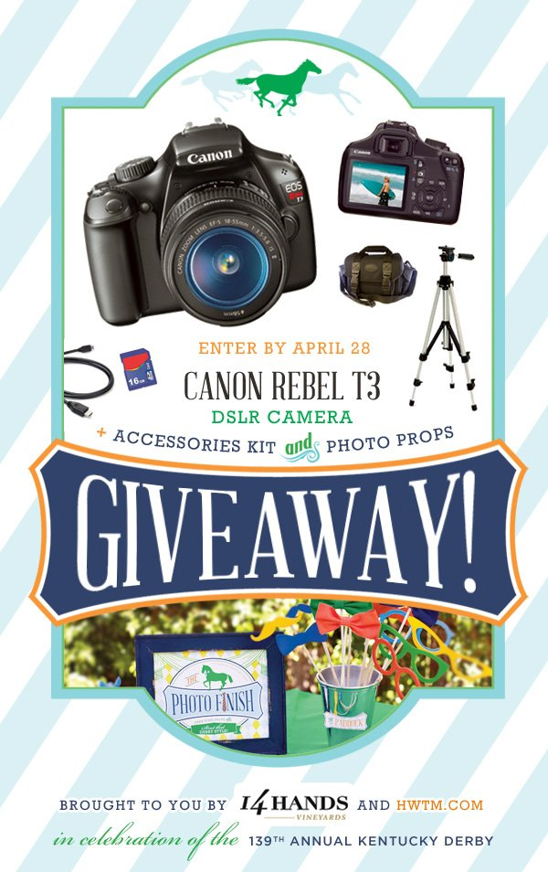 Canon Rebel T3 Giveaway from 14 Hands Vineyards