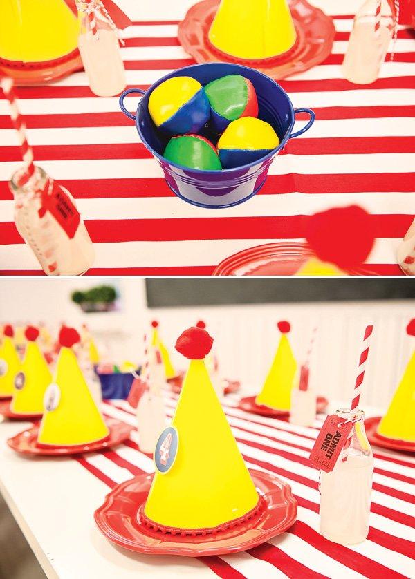 circus party centerpiece idea
