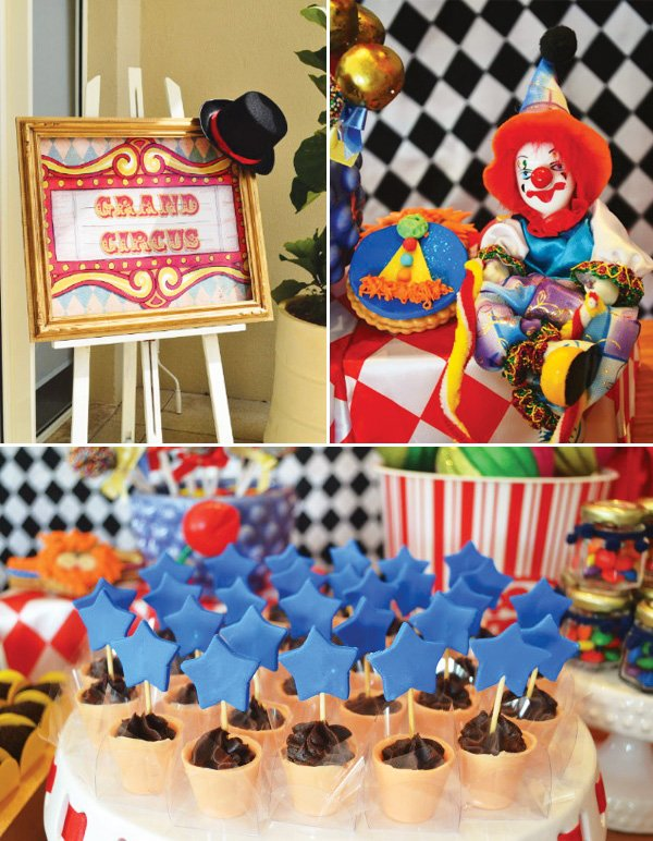 grand circus party sign