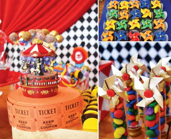 circus and pinwheel party ideas