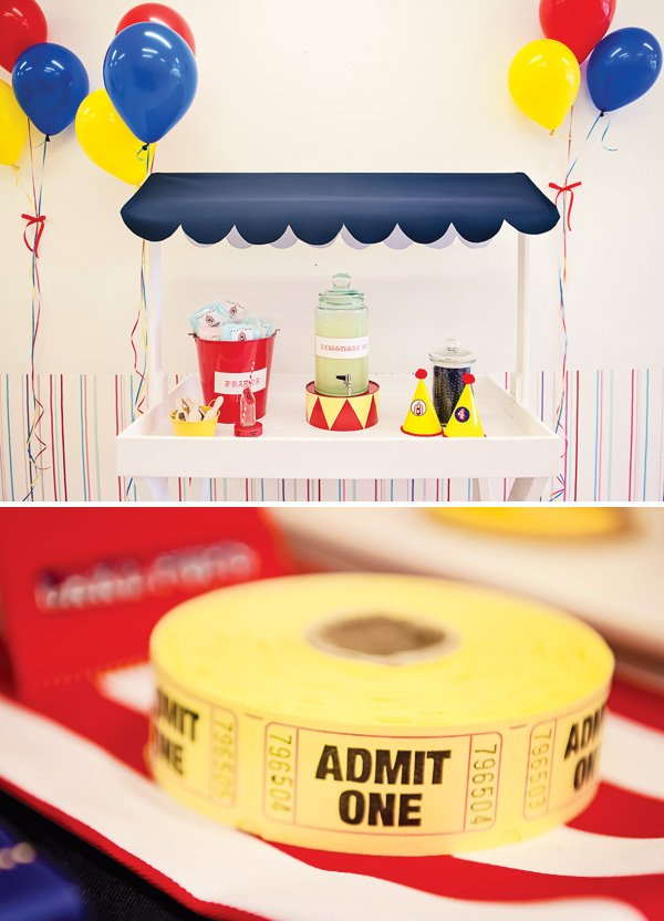 circus tickets for a carnival party