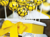 creative cobweb cake pops for a mystery party