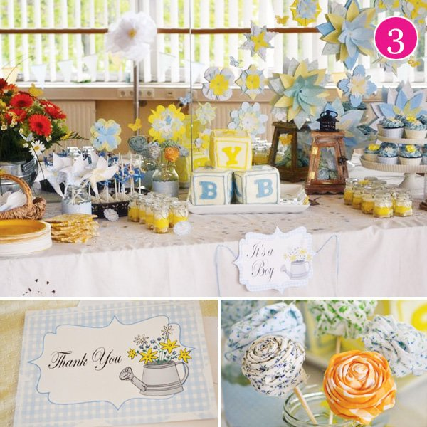 country chic boy baby shower
